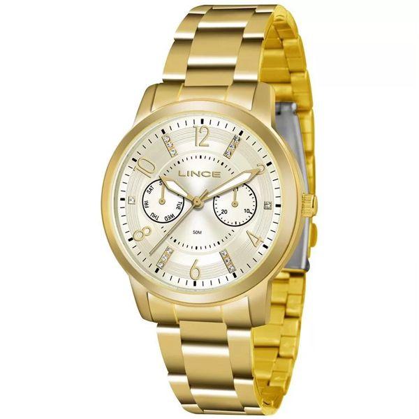 cf18261e110eb Relógio Lince Feminino Dourado Lmgj070l C2kx - Retran Joias
