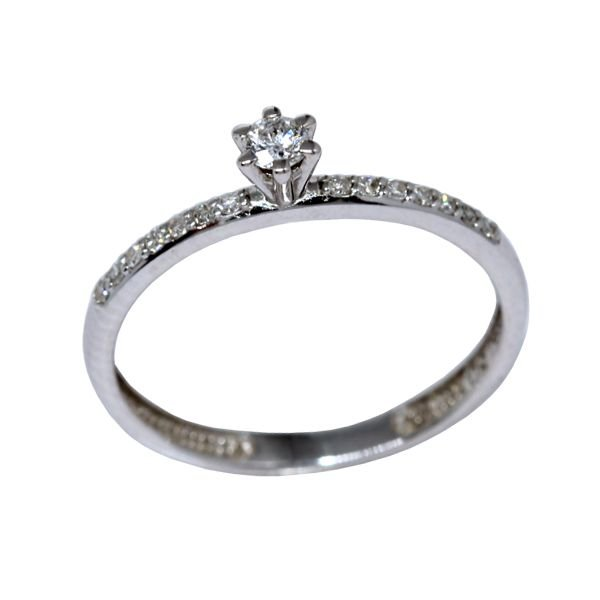 bdddea29eca68 Anel Solitário Ouro Branco 18k Diamantes - cod.9430 - Retran Joias