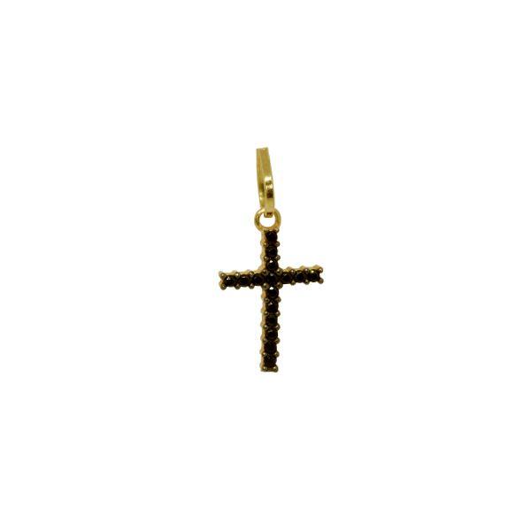 Pingente Cruz Ouro 18k Zircônias - cod.20191 - Retran Joias cbf7d5e403