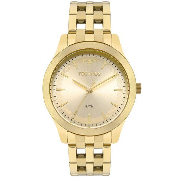 1b2f100784af0 Relógio Technos Feminino Dourado 2035mpl 4x - Retran Joias