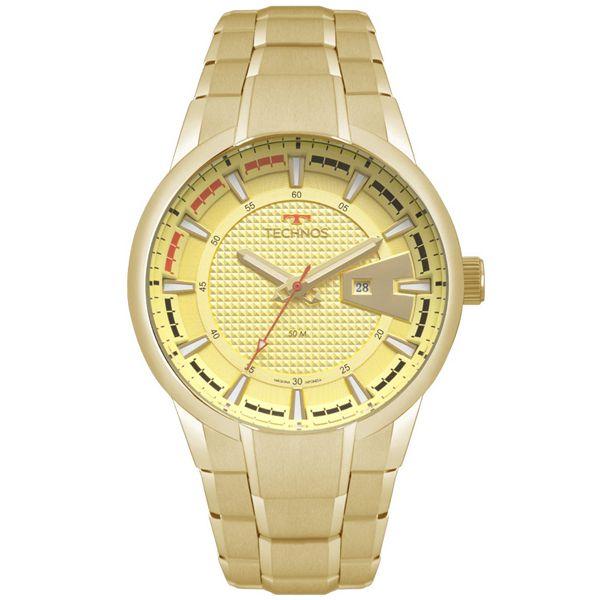 19d0659b62ba3 Relógio Technos Masculino Racer Dourado 2117lax 4x - Retran Joias