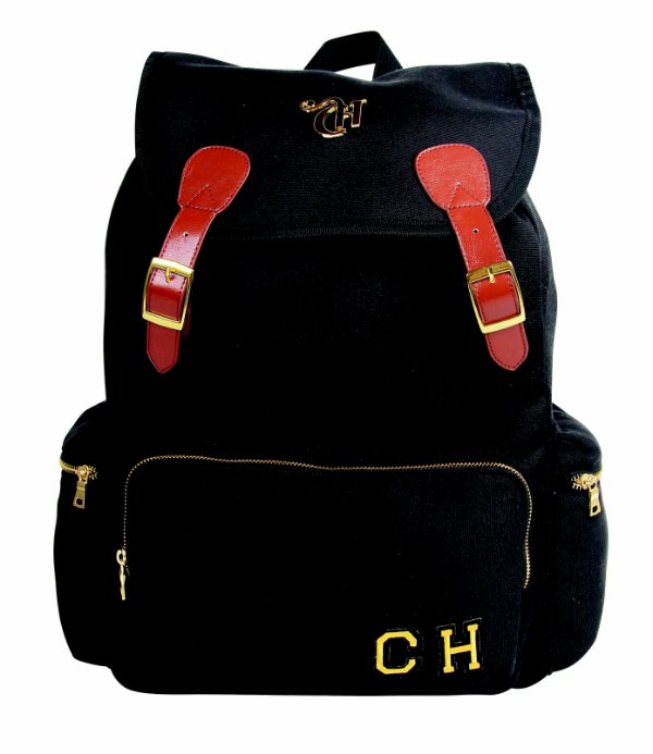 Mochila costas Capricho Monograma - Black ref:11020