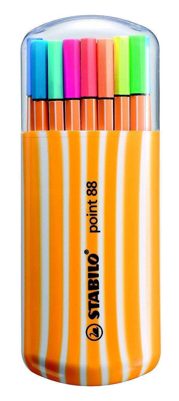 Caneta Stabilo Point 88 Estojo C/15 Cores + 5 Neon 8820-022
