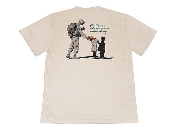 Camiseta Ape Peace Soldier Bege