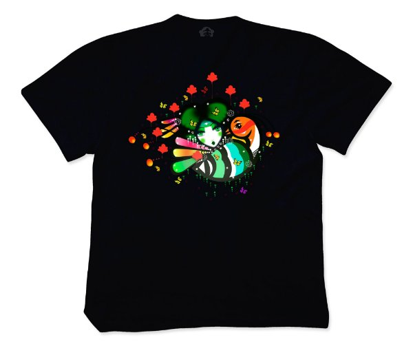 Camiseta Collab APE of GOD x D.Bizer color preta