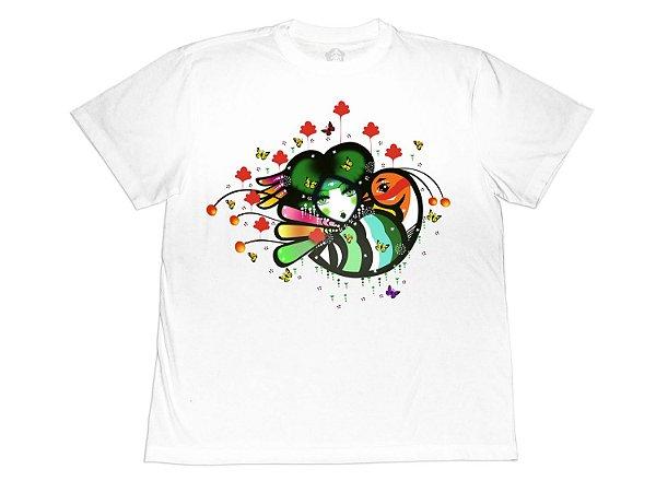 Camiseta Collab APE of GOD x D.Bizer color branca