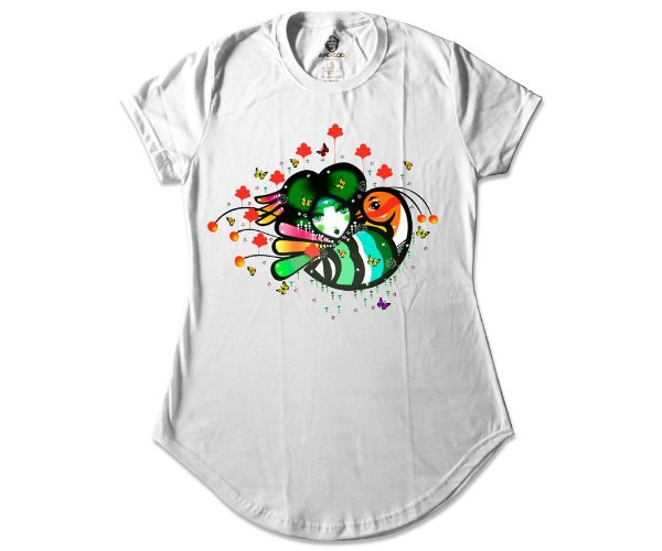 Camiseta Collab APE of GOD x D.Bizer Color Feminina Branca
