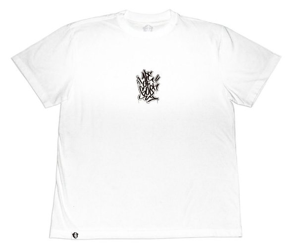 Camiseta Collab APE of GOD x Ink Art Tattoo Tag P branca