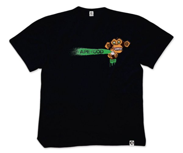 Camiseta APe of GOD vs Robson Melancia preta