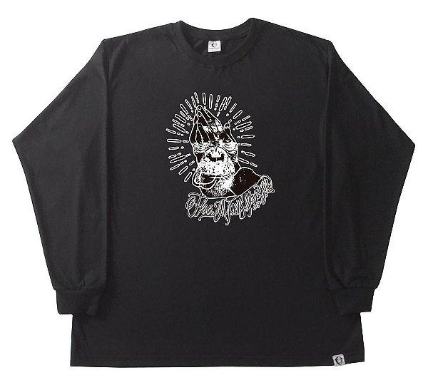 Camiseta manga longa The APE Prayer preta