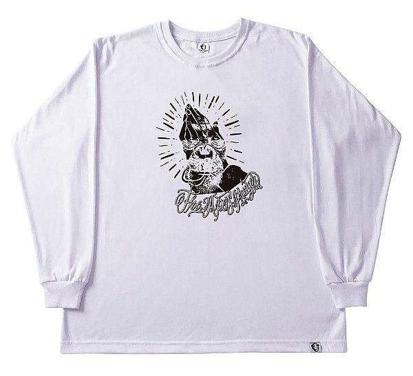 Camiseta manga longa The APE Prayer branca