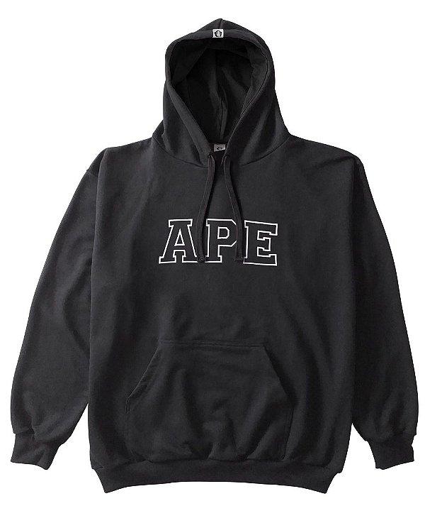 Moletom APE letras bordada