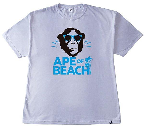 201. CAMISETA BRANCA APE OF BEACH