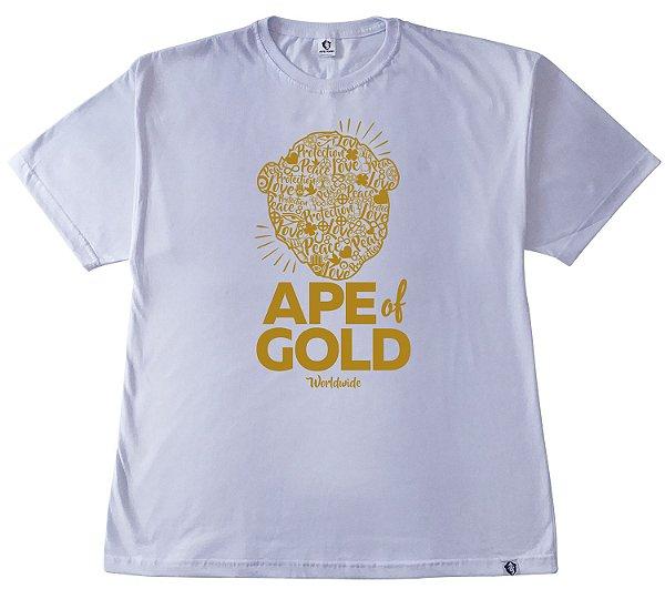 199. CAMISETA BRANCA APE OF GOLD #1
