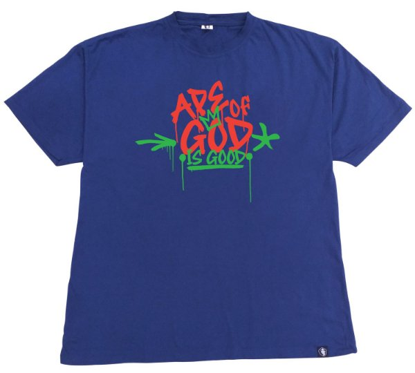 159. CAMISETA AZUL  APE OF GOD IS GOOD
