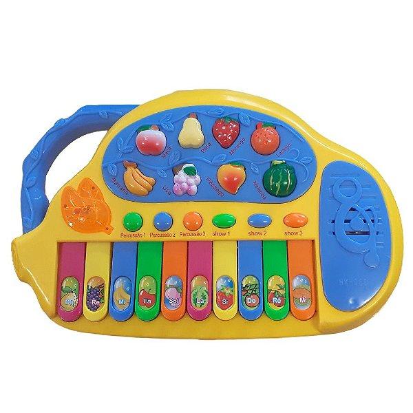 Teclado Musical Educativo 8 Nomes De Frutinhas Infantil Bebe
