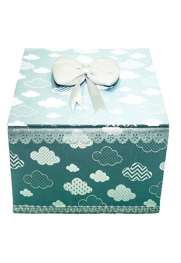 Kit Higiene Bebe Medina Nuvens Azul