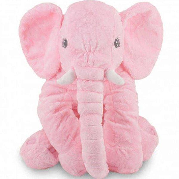 Bichos de pelúcia WU para bebês Elefante Rosa