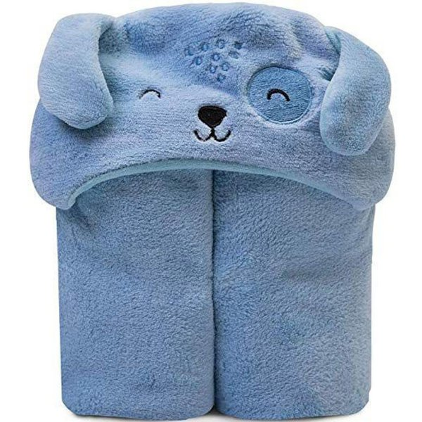 Cobertor Microfibra Mami Bichuus Com Capuz Papi Azul