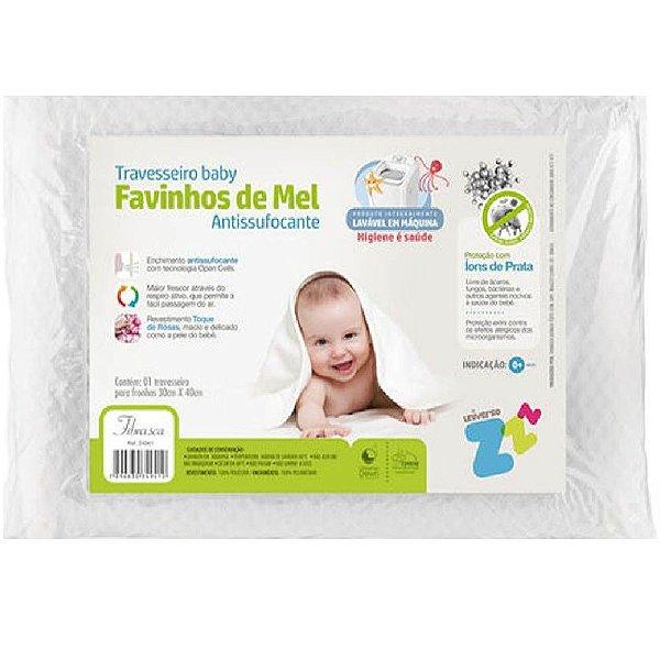 Travesseiro Antisufocante Fibrasca Baby Favinhos De Mel