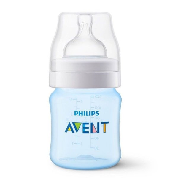Mamadeira Avent Philips 125ml Anti Cólica Azul