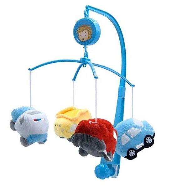 Mobile Em Pelúcia Kitstar Giratório Musical De Bebê Carros
