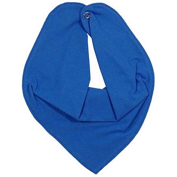 Babador Bandana Bebe Botao Ajustavel Azul
