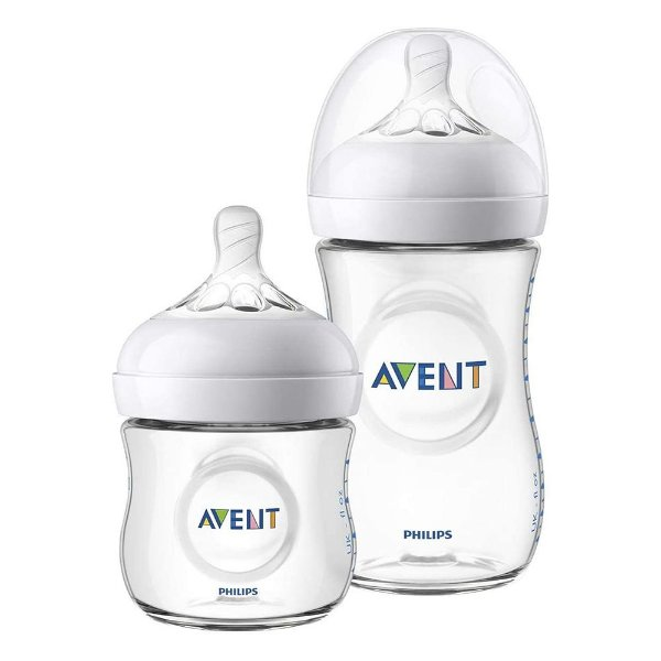 Kit Mamadeiras Avent Philips Pétala Branca 125 e 260ml Transparente