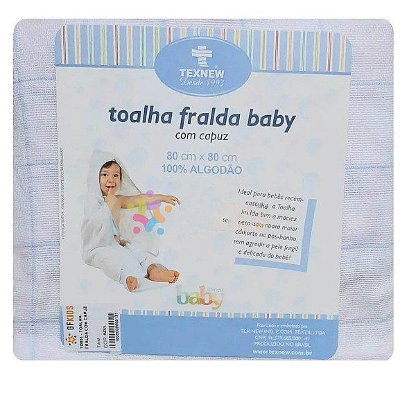 Toalha Fralda Baby Texnew Com Capuz Branca