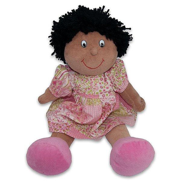 Boneca Gulu Baby 27cm Lika Rosa