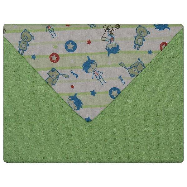 Toalha De Banho Toalhão Bebe Dupla Face Caricia Baby  Verde Sortido