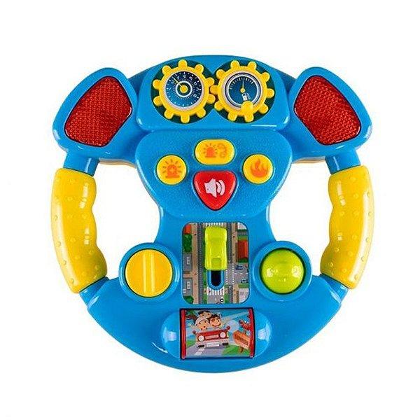 Brinquedo Educativo Coloria Volante Musical Azul