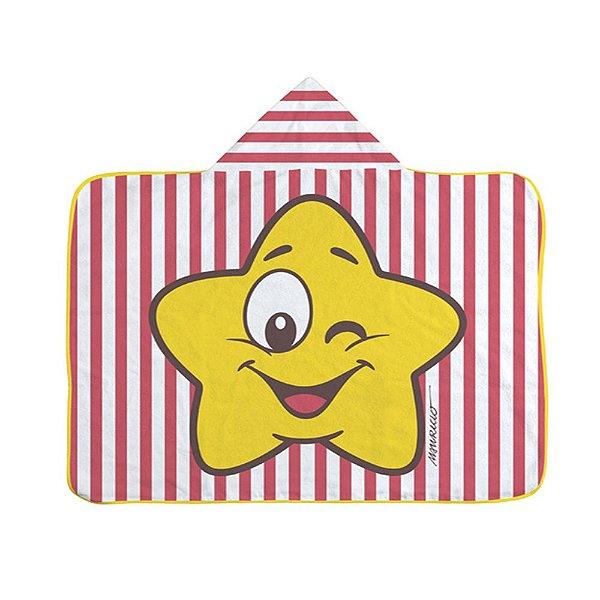 Toalha De Banho Infantil Com Capuz Estrelinha Mágica
