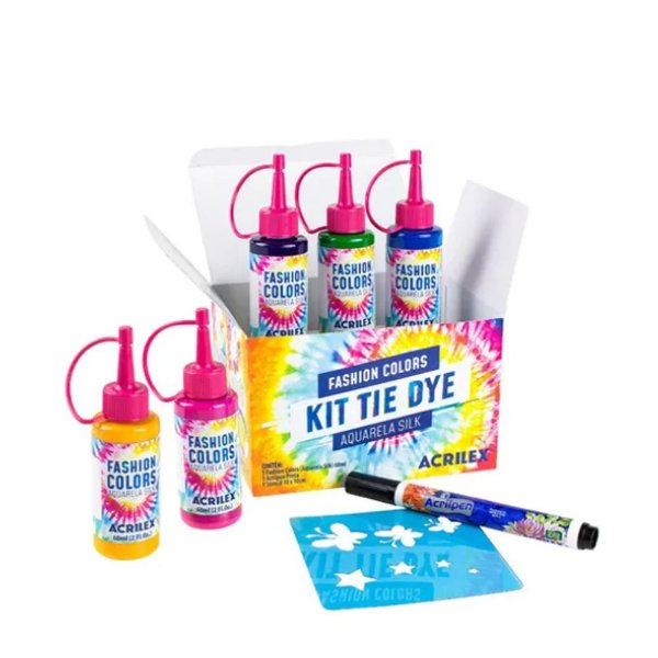 Kit De Tie Dye Infantil Fashion Colores