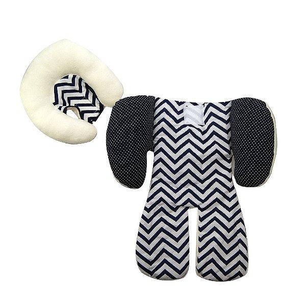 Capa Protetora Para Bebe Conforto Carrinho Azul Marinho