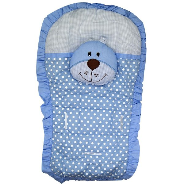 Capa Carrinho Bebe Bruna Baby Urso Azul Poa