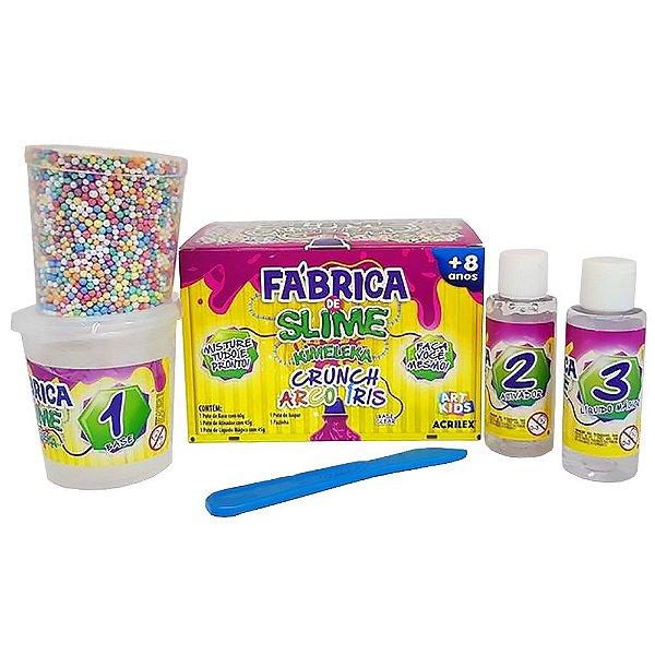 Fabrica De Slime Kimeleka Acrilex Crunch Arco Iris Arte Kids