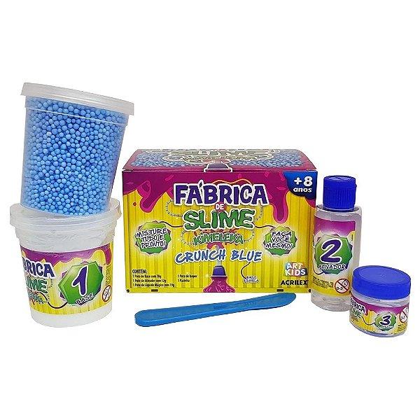 Fabrica De Slime Kimeleka Acrilex Crunch Blue Arte Kids