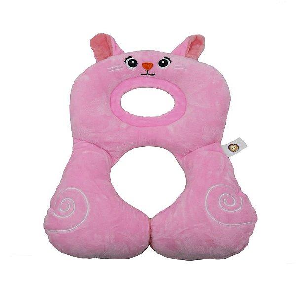 Protetor Pescoço Travesseiro Anatomico Coelhinha Rosa