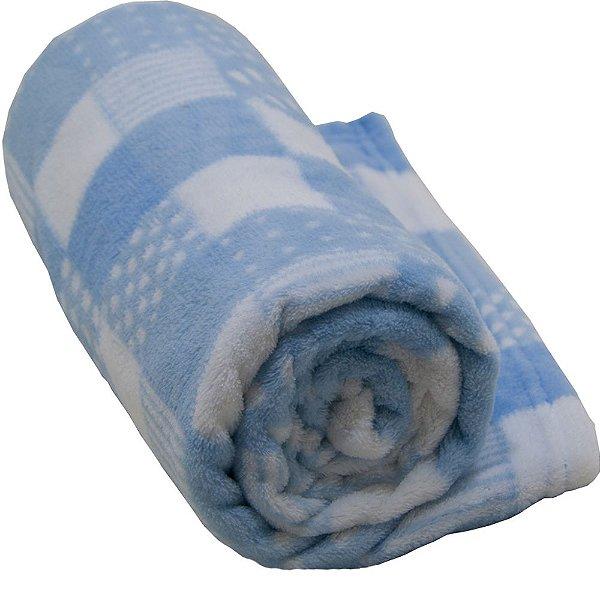 Cobertor Infantil Antialégico 1,10m X 90cm Camesa Azul