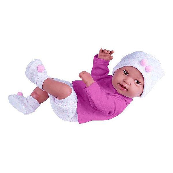 Boneca Bebe Reborn Recem Nascida Menina Cotiplás Com Vários Itens