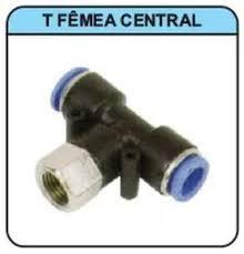 TUBO TE FÊMEA CENTRAL COM ENGATE RÁPIDO