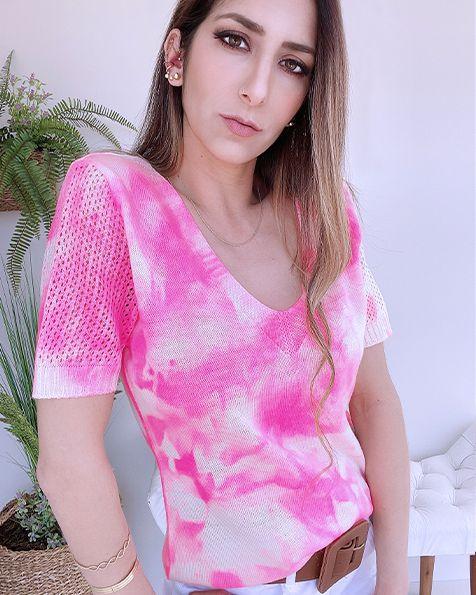 T-shirt Tricot Tie Dye - BLB