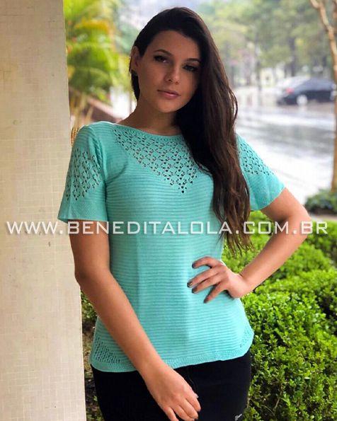 Camiseta Tricot Melissa Verão 2020- SK