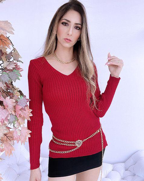 Blusa Tricot Canelada - BLR