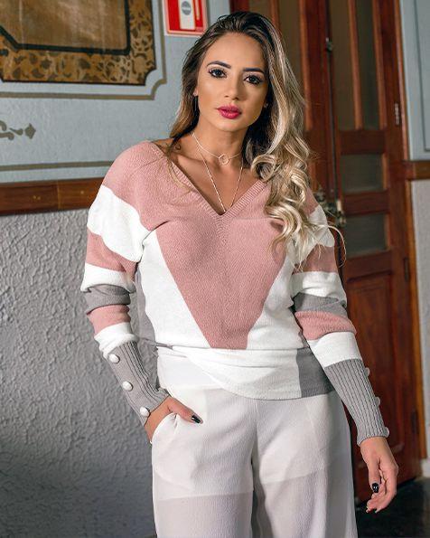 Blusa Tricot Princess Modal Inverno 2021 - JN