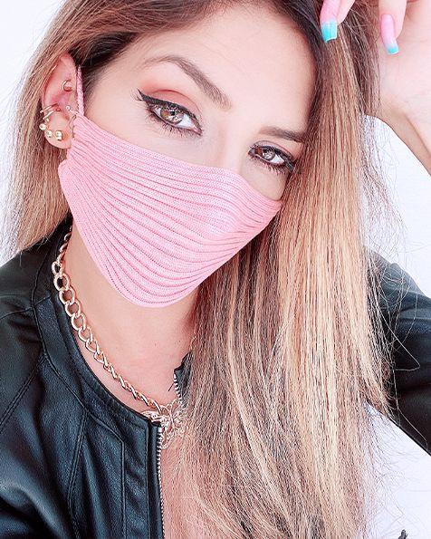Máscara Tricot Blogueira (Viscose) - USE MÁSCARA!!!