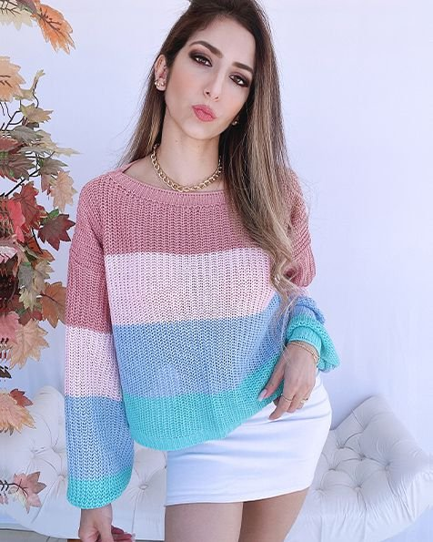 Max Cropped Tricot Candy  - BLC