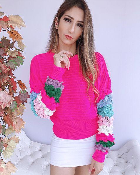 Blusa Tricot Escamas - BLC