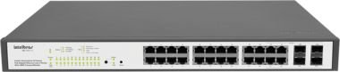 Switch Rack Gerenc 24 P Giga Ethernet POE e 4 P Mini GBIC SG 2404POE - Intelbras